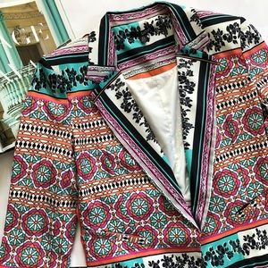Jackets & Blazers - Vibrant Geometric and Floral Blazer